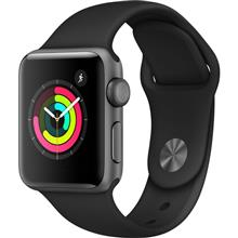 Apple Watch 3 GPS 38mm Space Gray Aluminum Case With Black Sport Band